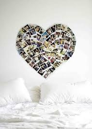 Heart Shaped Photo Collage For The Wall No Frames Art Cute Ideas Pictures