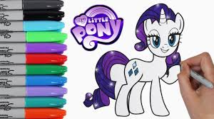 My Little Pony Coloring Book Pages Rarity MLP Video For Kids Art