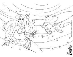 MERLIAH Princess Of Oceana BEAUTIFUL BARBIE As Free Coloring Page