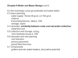 """Chapter 9 Water and Basic Design """"The next great world crisis will"""
