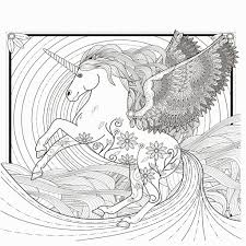 Realistic Coloring Pages Of Unicorns Collection