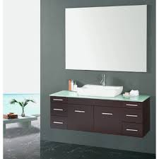 Single Sink Bathroom Vanity Set by Discobath Virtu Usa Um 3083 G Es Biagio 56 Inch Wall Mounted