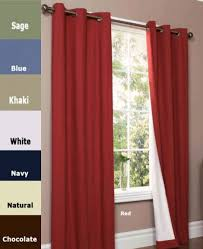 Grommet Insulated Curtain Liners by Thermalogic Weathermate Grommet Top Panel