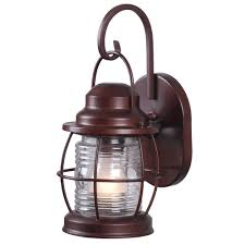 Home Decorators Collection Harbor 1 Light Copper Outdoor Small Wall Lantern HDP11987