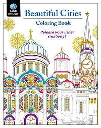 Rand McNally Beautiful Cities Coloring Book