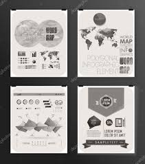 Modern Infographic Poster Background And Typography Vintage Elements Set Vector By Merfin
