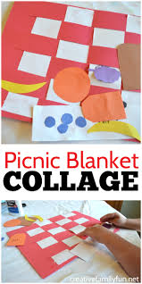 Use Paper Weaving Along With Cutting And Pasting To Make This Fun Simple Picnic Blanket