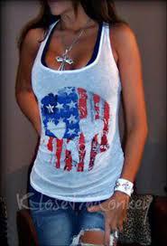 SEXY OFF WHITE SUGAR SKULL BURNOUT RHINESTONE SHEER FLAG AMERICAN TANK TOP M