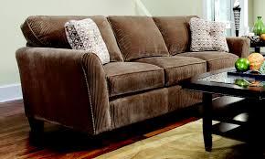 Broyhill Laramie Microfiber Sofa In Distressed Brown by Gallery Of Broyhill Sleeper Sofa Price 4940