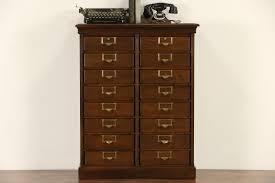 SOLD Globe Wernicke 16 Drawer 1900 Antique Oak File Cabinet