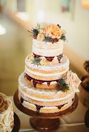 Photo By Sara And Rocky Cakewalk Bake Shop A Rustic Naked Wedding Cake