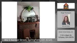 3 Bedroom Houses For Rent In Springfield Ohio by 802 E Kenton Street Springfield Oh 45505 Youtube