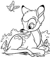 Charming Beautiful Free Printable Bambi Cartoon Coloring Pages For Kids