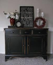 Black distressed Empire Dresser with a future antique black