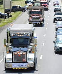 Make-A-Wish Mother's Day Truck Convoy Aims To Grant Wishes Of 50 ... Tbt Truck Convoy Ns 2014 Makeawish Truck Convoy Shows Truckings Caring Side Fundraiser Usa Stock Photos Images Alamy Mack Rs700 American Simulator Mod Ats Special Olympics 2016 Jims Towing Inc Paris On Twitter As We Wrap Up Cadian National Worlds Largest For The Worlds Longest Truck Convoy In Hd Youtube 16th Annual South Dakota Weather Doesnt Dampen Spirit Alberta News