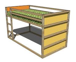 Free Woodworking Plans For Twin Bed by 70 Best Bunk Bed Plans Images On Pinterest Bunk Bed Plans 3 4