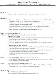 Sales Associate Resume Objective Statement 989