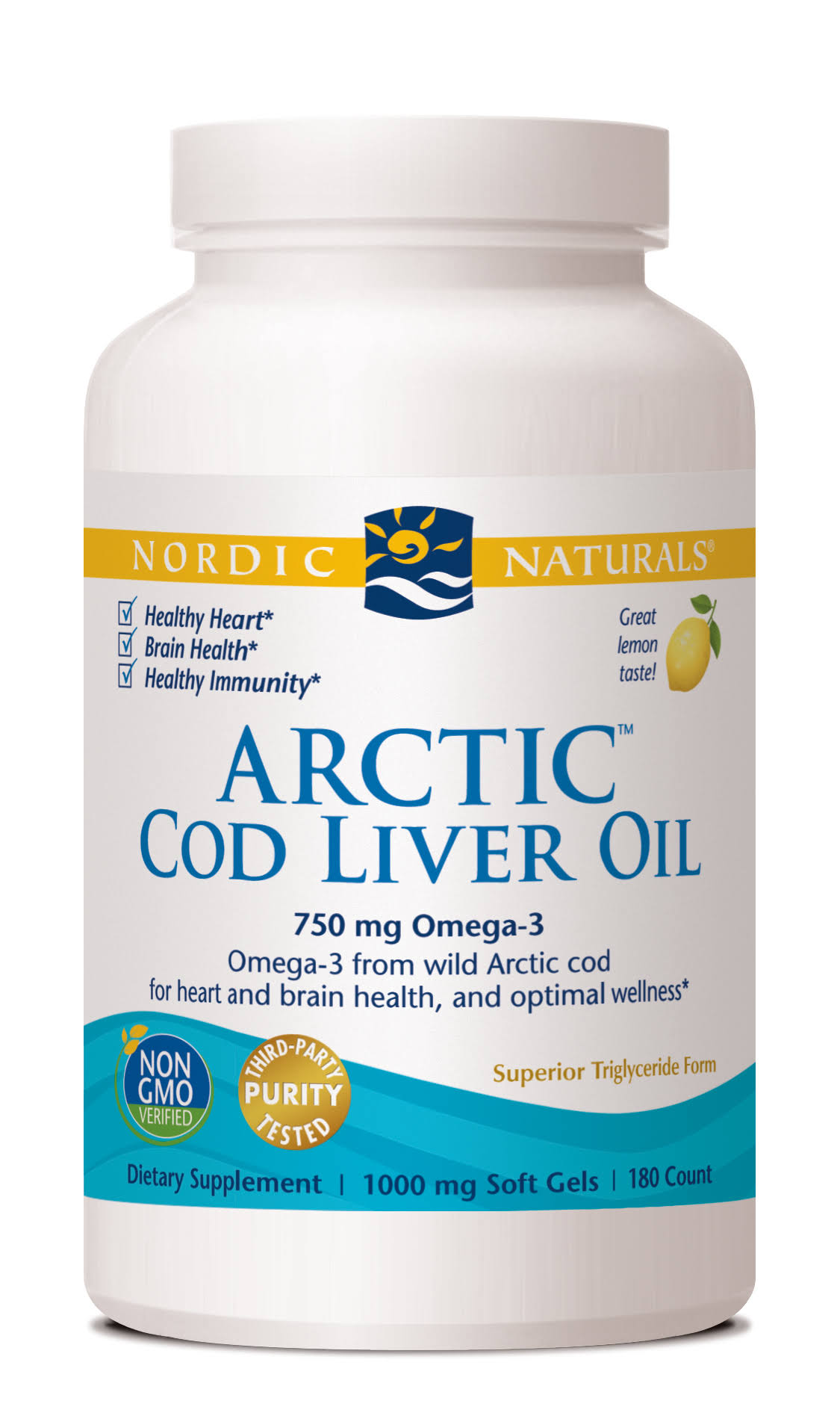 Arctic Cod Liver Oil - 180 count - soft gels - lemon