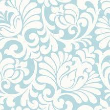 light blue tulip damask wallpaper