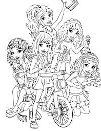 Lego Friends Coloring Page