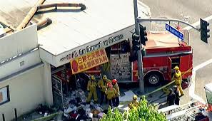 15 Hurt When Fire Truck Crashes Into Restaurant - NBC News Who Will Drive The For Driverless Fire Trucks Ambulance And Fire Truck Accident Royaltyfree Video Stock Tesla Model S Reportedly On Autopilot Crashes Into At Video Crashed I84 15 Hospitalized After 2 Engines Crash In Monterey Park Ktla With Tx Apparatus Leaves One Serious Firehouse Team Of Firefighters By Firetruck On Accident Location Stock Brenham Firetruck Involved In Accident While On Way To Fire Call Ambulance Crash Miami Bomberos Accidentes Two Hurt Vehicle Later Catches Cedar Springs