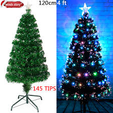 Aliexpress Buy Christmas Decorations 4 5 6 Fiber Optic Tree LED Colour Changing Traditional Artificial Green Flash Xmas Gift From