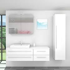 badmöbel set city 210 v4 hochglanz weiss badezimmermöbel