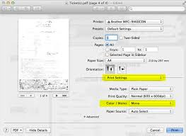 Adobe Illustrator Print Dialgoue Apple Mac Brother Black And White Settings