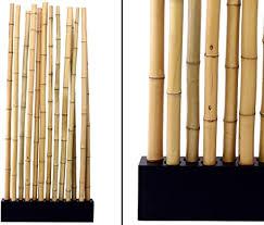 bambus raumteiler paris5 mit ca 90x12x205cm sockel und 13