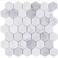 lsmb carrara marble hexagon mosaic tiles exotiles