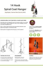 Decorative Metal Garment Rack by Amazon Com 14 Hook Spiral Coat Hanger Bag Display Garment