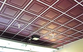 Ceilume Drop Ceiling Tiles by Low Profile Grid In Garage Ceilume