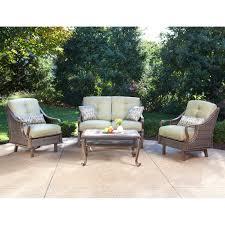 Patio Furniture Sets Walmart by Hanover Ventura Luxury Resin Wicker Outdoor Recliner Chair Fine