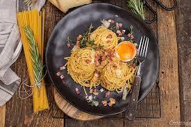 spaghetti carbonara mit tiroler speck