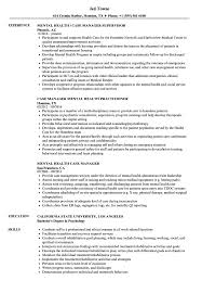 Download Mental Health Case Manager Resume Sample As Image File