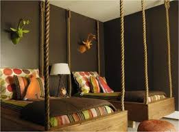 Cute Safari Theme For A Kids Room But Understated LOVE The Hanging Rope Beds Though Cool Bed Idea Vins