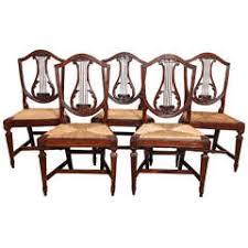 Lyre Back Chairs History by Rush Seating 233 For Sale At 1stdibs