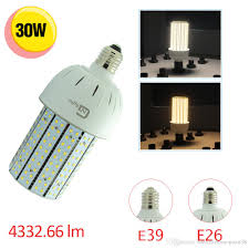 200watt incandescent equivalent 30w led area light corn bulb