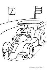 Race Car Driving Color Page