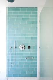 sky blue glass subway tile blue tile bathrooms blue tiles and