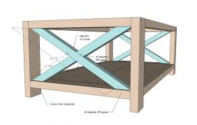 Coffee TablesSimple Table Plans Ana White Rustic X Diy Projects Making Square Buy