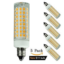 5 pack e11 led bulb 75w or 100w equivalent halogen replacement