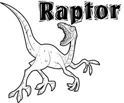 An Agile Velociraptor In Hunting Dinosaur Colouring Page