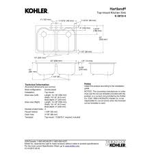 Kohler Hartland Sink Rack White by Kohler K 5818 4 0 Hartland White Drop In Double Bowl Kitchen Sinks