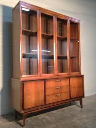 Mid Century Danish Modern China Cabinet Hutch Bookcase