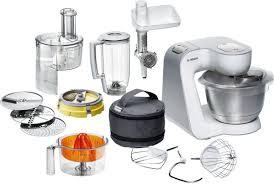 cuisine et maison bosch mum54251 styline avec bol en acier inoxydable cuisine
