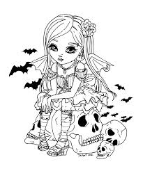 Coloriage De Vampire Fille Made Crotoy