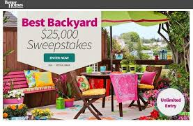 Better Homes and Gardens Best Backyard $25 000 Sweepstakes