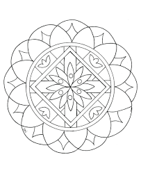 Coloring Pages Easy Mandala Colouring Book Color Children From Gallery Printable For Adults