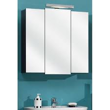 badezimmer spiegelschrank in anthrazit livorno i 3 türig